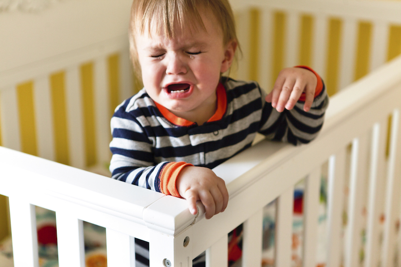 Baby Crying in Crib