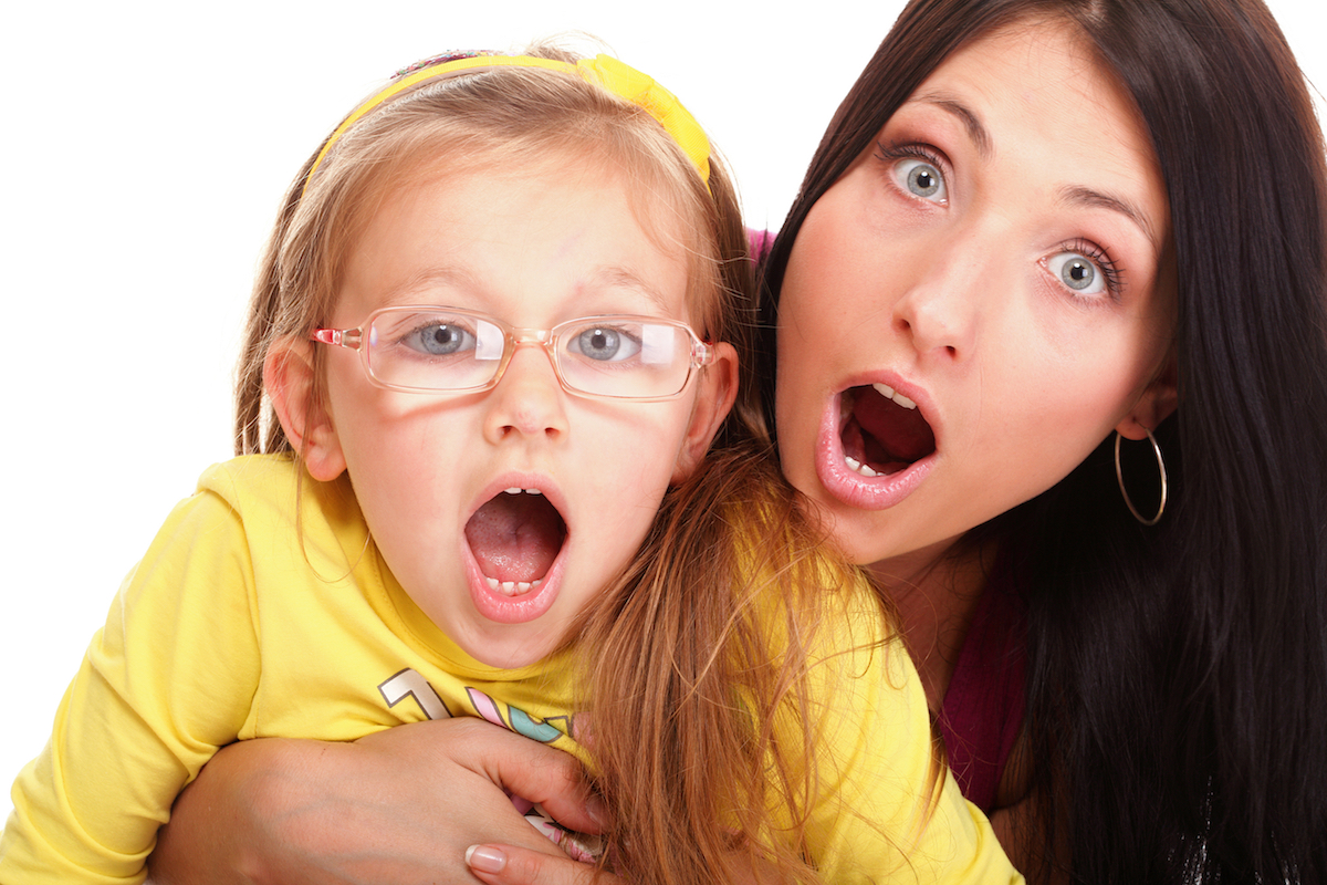 surprise litle baby toddler girl playing mom